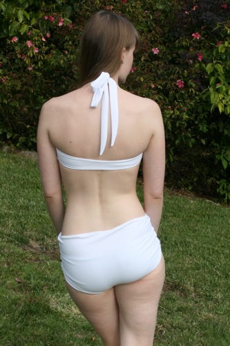 white swimsuit back