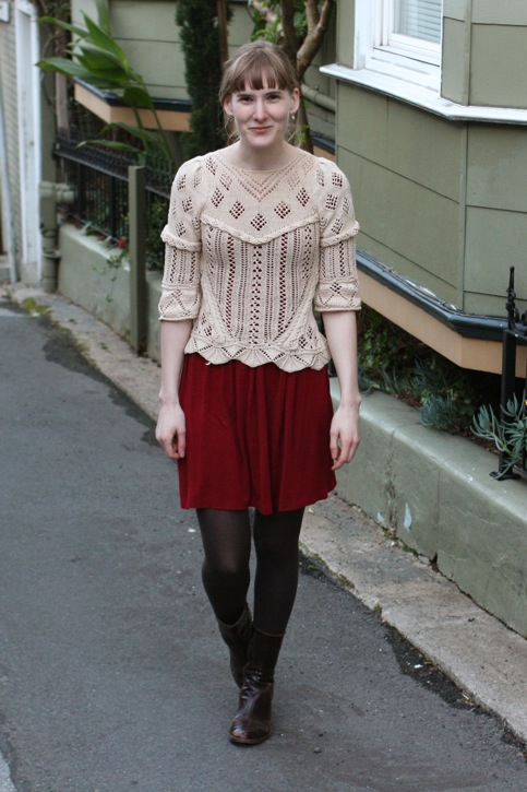 lace sweater